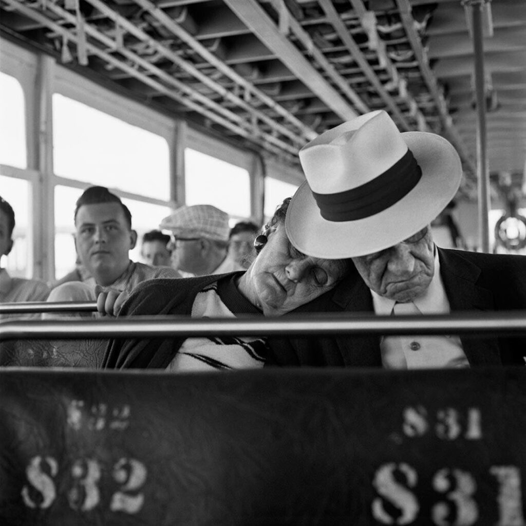 A couple in a streetcar