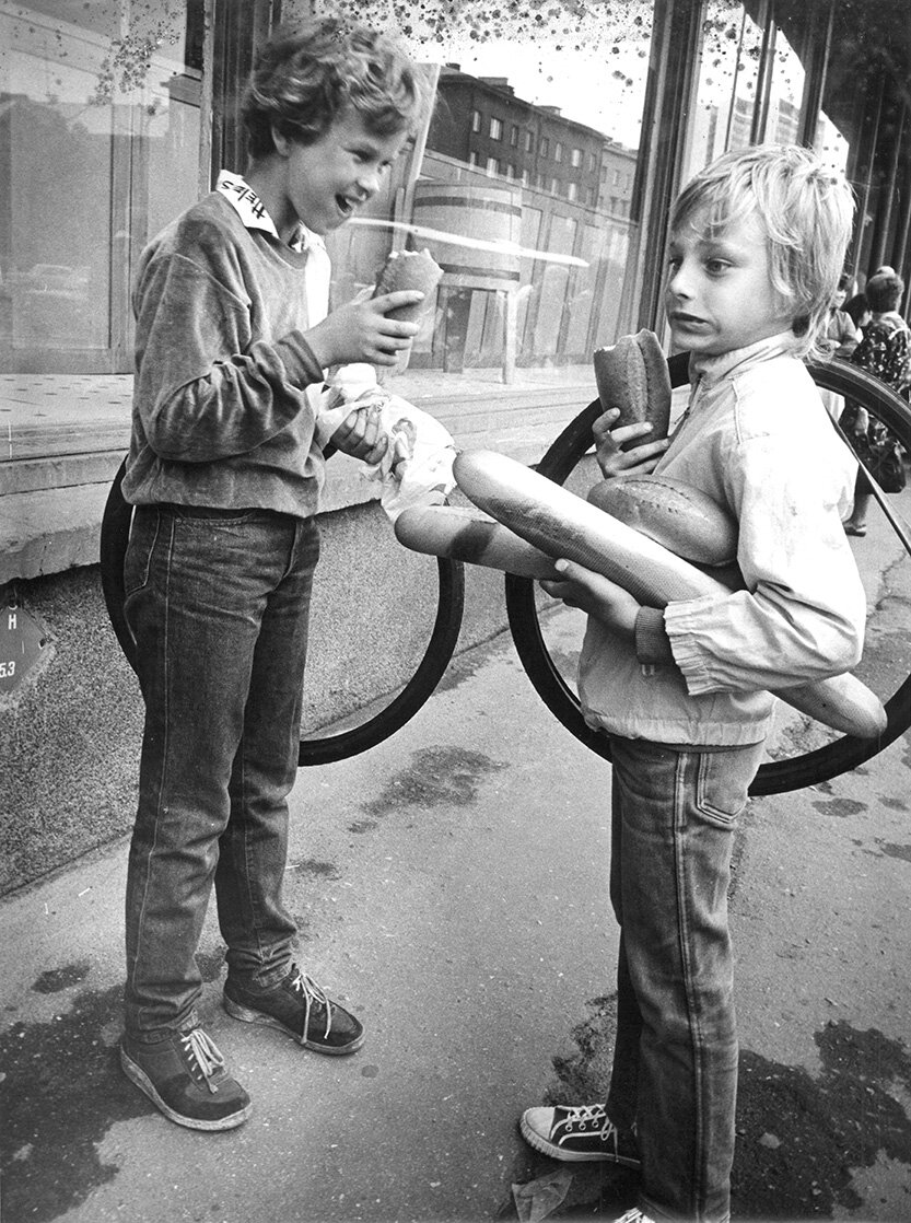 """- Väino Meresmaa. """"Defitsiidi maitseelamus"""". 1980. aastad. Erakogu."""